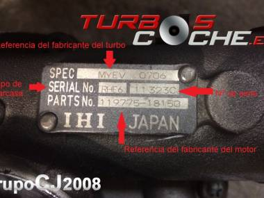 Turbo NUEVO original IHI ref. MYDW (119574-18020) para motor marino Yanmar tipo 6LYA-STE. Autres