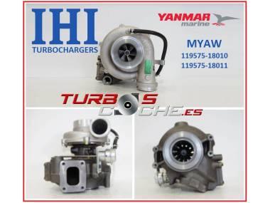 Turbo NUEVO original IHI ref. MYAW (119575-18010) para motor marino Yanmar 6LY2-STE y equivalentes Autres