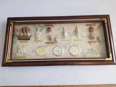 Cuadro de nudos de marineros con instrumentos 54 x 25cm Decor./ Livres