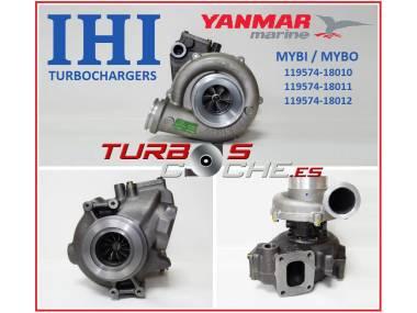 Turbo NUEVO original IHI ref. MYBO / MYBI (119574-18010) para motor marino Yanmar 6LY2, 6LYA y equivalentes. Autres