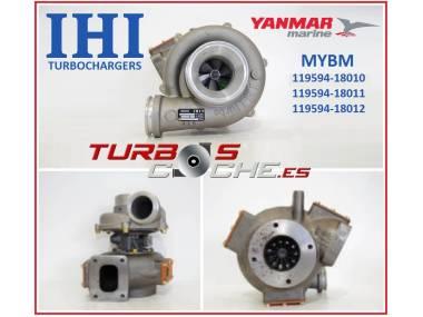 Turbo NUEVO original IHI ref. MYBM para barco (motor Yanmar 6LY) 119594-18010 Autres