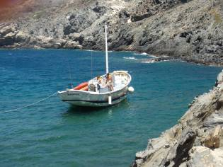 Barco de madera antiguamente de pesca