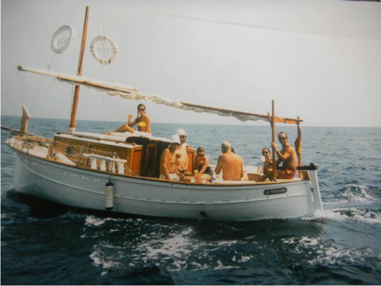 llaut mallorqu u00edn en port pesquer de palam u00f3s