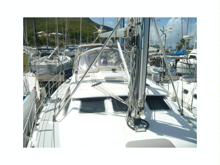 hunter 41 deck salon en guadeloupe