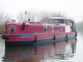 Narrowboat 55 Barge Stern-Ledgard Bridge