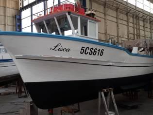 Barca da pesca 8,42 mt con licenza 3 gt 53 kw